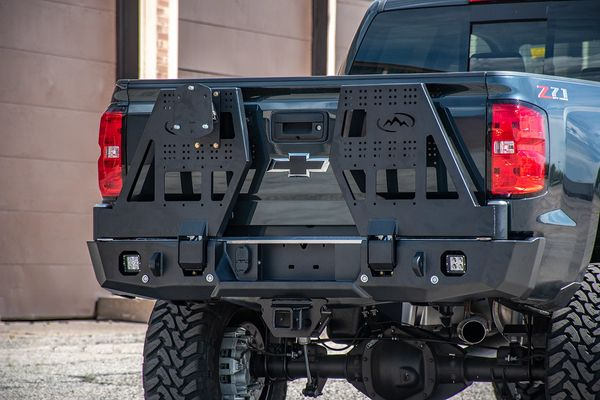 Chevy 1500 Rear Bumper for 2014-2018 with DUAL Swing Arm Carrier System
