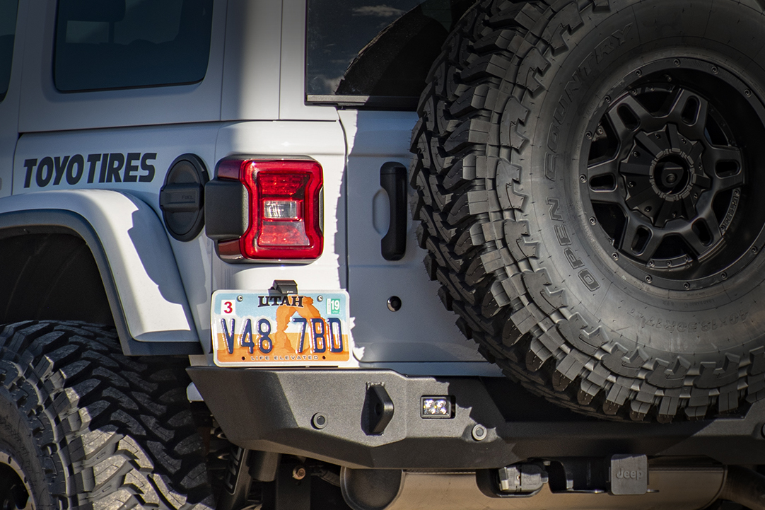 Jeep JL License Plate Relocation Mount