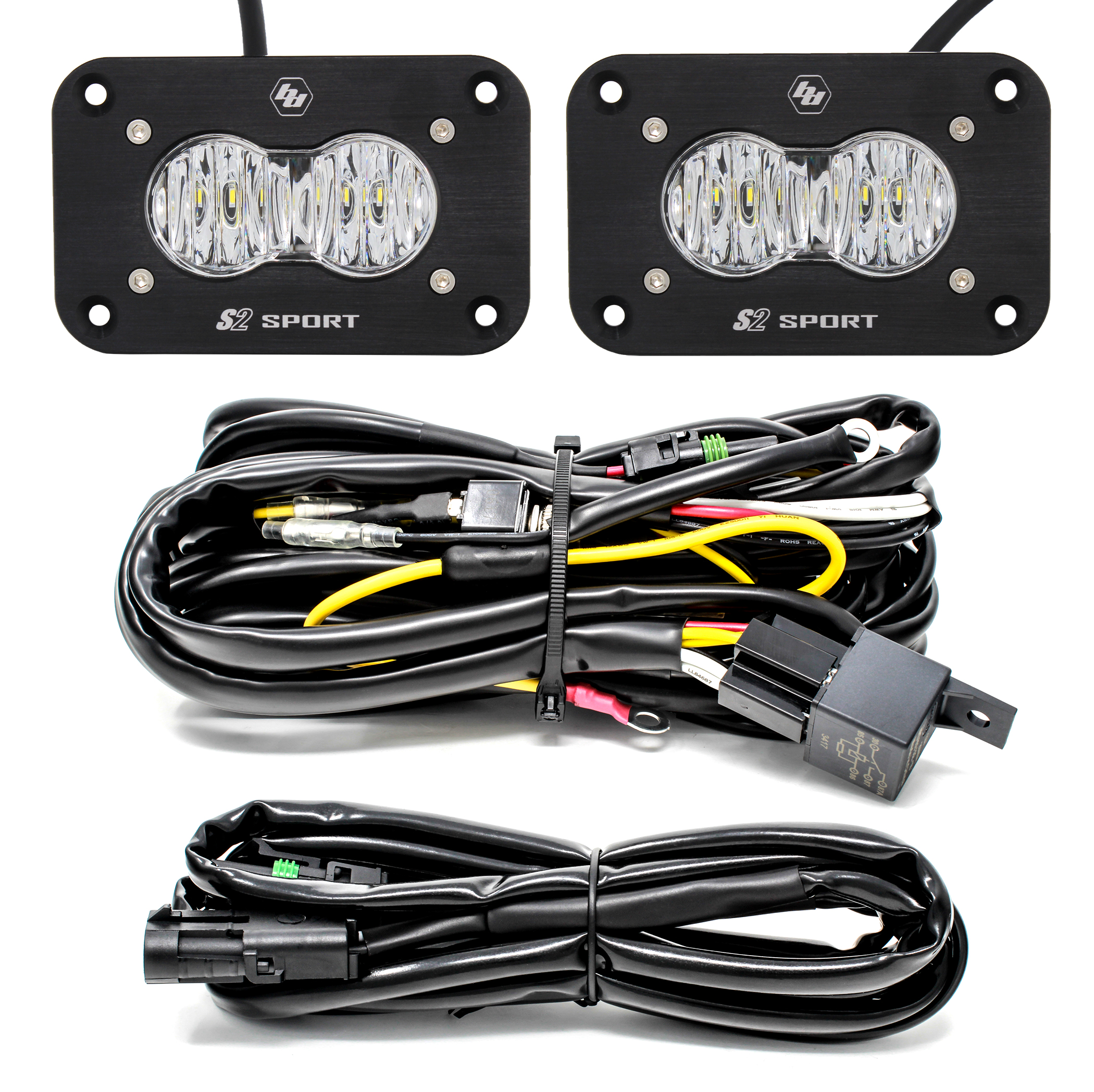 Baja Designs S2 Sport, Pair, LED Flush Mount, Reverse Kit