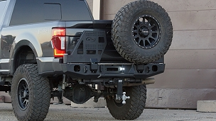 17+ FORD F250/350 RangeMax Dual Swing Rear Bumper