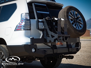 Lexus 2010+ GX 460 Dual Swing Rear Bumper Tire Carrier System