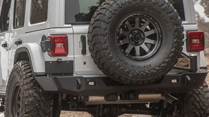 Trail Series 2 Tire Carrier Rear Bumper for 2018+ JL Wrangler