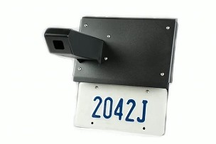 camera and license plate relocation mount combo